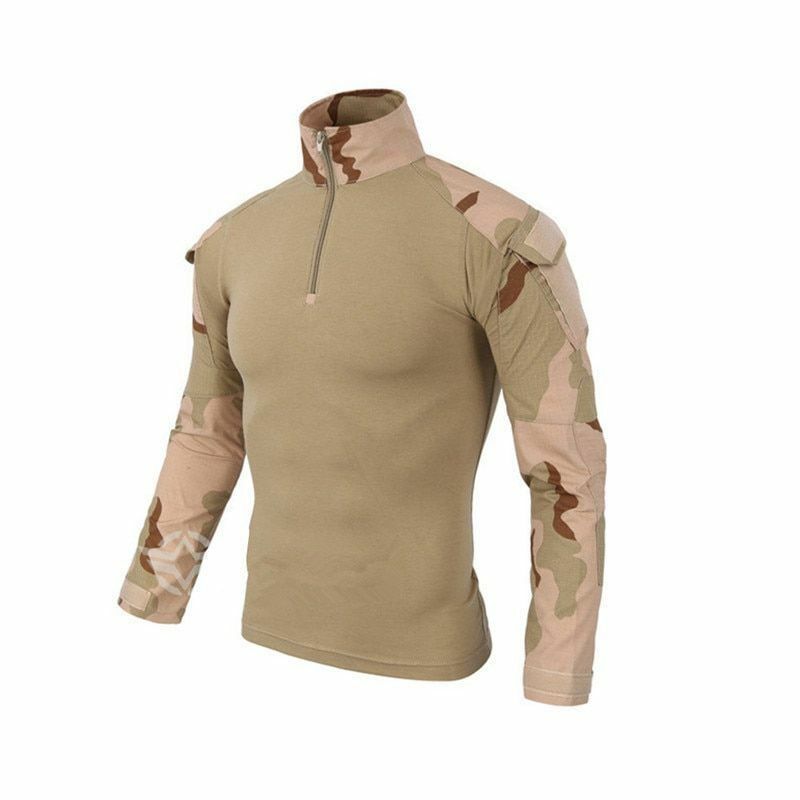 Men's T Shirt Hiking Long Sleeves Combat Outdoors Military High Tactical Hunting