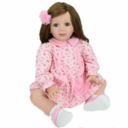 "24/"" Reborn Baby Dolls Toddler Soft Vinyl Silicone Handmade Girl Xmas Gift Doll"