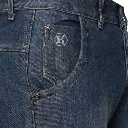 New KRUZE Mens Regular Fit Jeans Straight Leg Denim Trousers Pants Big King Size