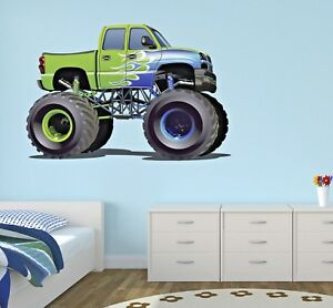 Surprising Details About Monster Truck Wall Decal Kids Bedroom Art Decor Play Room Sticker Car Vinyl J239 Home Interior And Landscaping Ologienasavecom