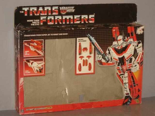 G1 TRANSFORMER AUTOBOT JETFIRE EMPTY scatola LOT   2 POINTS REMOVED WEAR