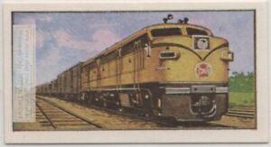 Canadian-National-Railways-Diesel-Train-Engine-Vintage-Ad-Trade-Card