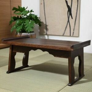 Details about Coffee Table Wood Tray Folding Leg Vintage Antique Japanese  Style Home Furniture
