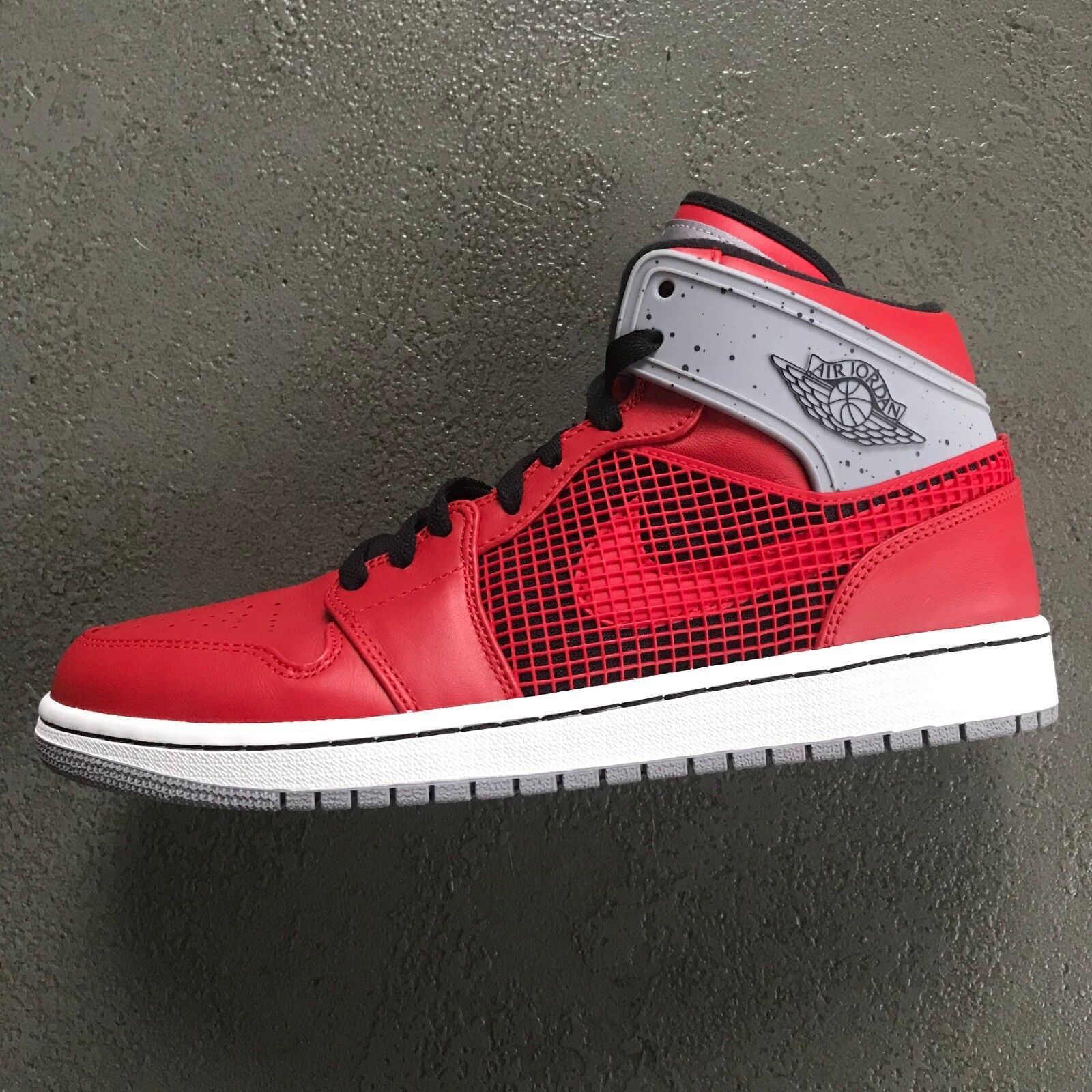 Nike Air Jordan 1 '89 Sz 10 VVNDS Fire Red Red Red Cement Retro 4 IV  599873-602 c3eb00