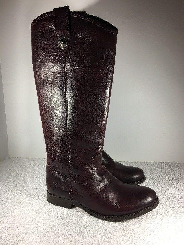 FRYE SZ Damenschuhe Melissa Button Riding/Equestrian Stiefel SZ FRYE 6 Burgundy 77167 NEW ba8704