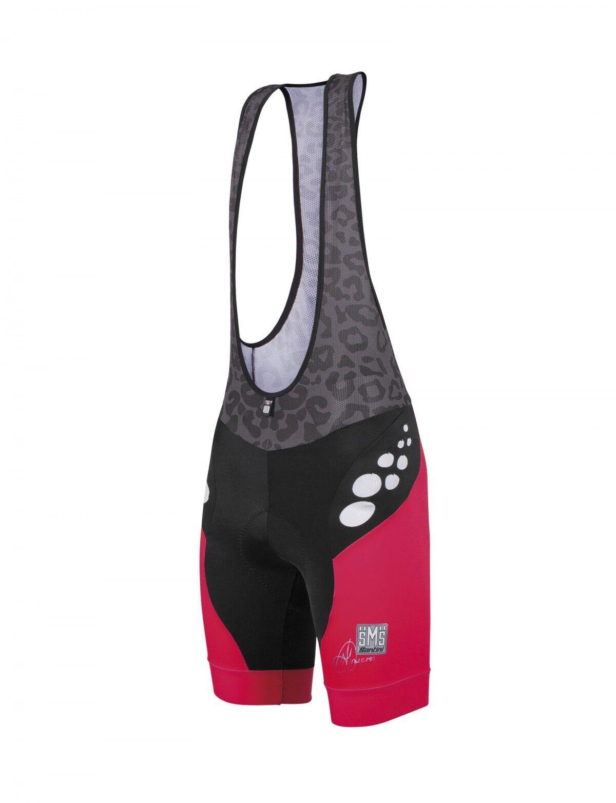 Para mujer 33 aerodinámica ciclismo Bibshorts-en CORAL-Hecho en Italia  por Santini  la mejor selección de