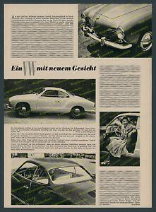 ORIG Foto relazione Stavenhagen auto VW Karmann-Ghia Osnabrück Dame VOLKSWAGEN 1955