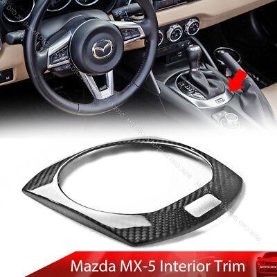 Dry Carbon Fiber Fit For Mazda Miata MX-5 ND Interior Hand Brake Trim Cover RF
