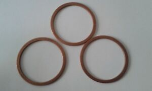 3 Stück Kupferdichtring Dichtung Kupfer 17x23x1,5 mm DIN 7603  Form A