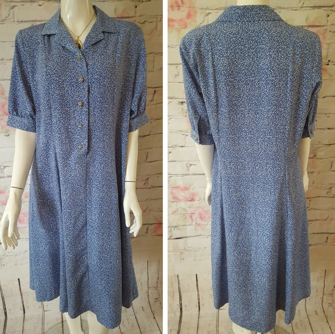 COUNTY JERSEY,BEAUTIFUL LADIES,FLORAL DRESS,SIZE 16,FASTENING BUTTONS,BARELY USE