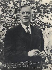 General-Charles-de-Gaulle-France-Photo-Analogue-Silver-Print-Vintage-N1