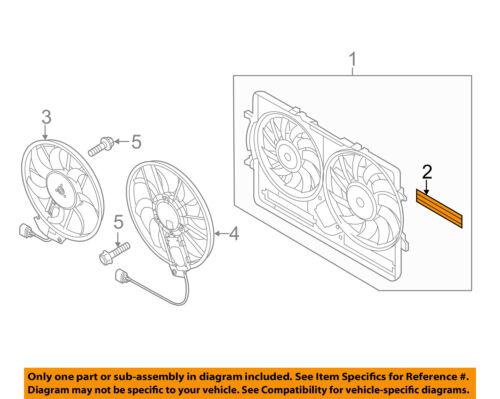 AUDI OEM 04-10 A8 Quattro 4.2L-V8 Cooling Fan-Blind 4E0121223