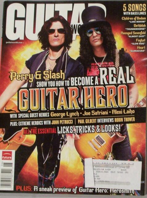 SLASH JOE PERRY JOE SATRIANI JUNE 2008 Guitar World