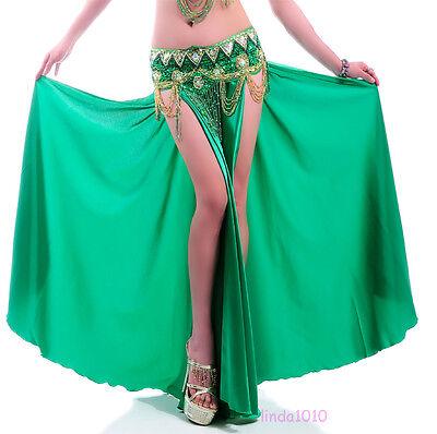 NEW Sexy belly dance Costume Saint Skirt 2 side slits Skirt Dress 12 colors