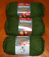 Bernat Softee Chunky Yarn Lot Of 3 Skeins (Eucalyptus #28247)