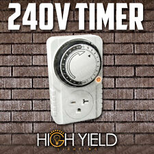 Purple Reign Programmable 110 Volt Outlet 24 Hour Hydroponic Grow Light Timer