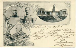 AK München, Bavaria, Ruhmeshalle; Wittelsbacher, gel. 19.7.1901 nach Pfullingen