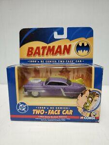 Two-Face-Car-Corgi-1950-039-s-DC-COMICS-BATMAN-1-43-Scale-NIB-2005-fast-ship