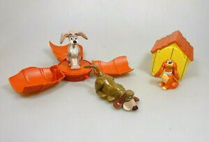 Susi-und-Strolch-3-Figuren-Mc-Donalds-1997-Disney