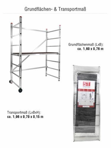 Alu-Arbeitsgerüst AH 3,00 m inkl Rollen STRUKTURO fahrbares Kleingerüst