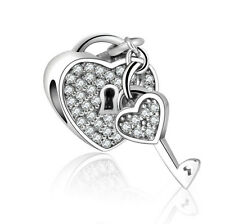European Silver CZ Charm Beads Fit sterling 925 Necklace Bracelet Chain A#056