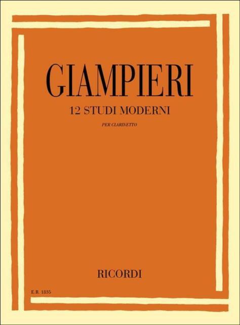 12 Studi moderni - Alamiro Giampieri - Per Clarinetto