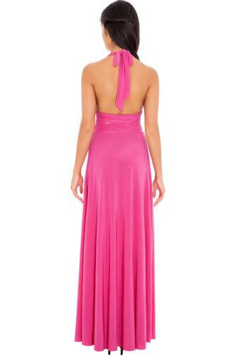 Neckholder Maxikleid Sommerkleid Abendkleid Brautjungfern Kleid XXS XS S M NEU
