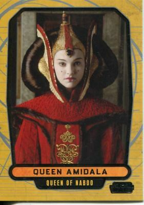 Star Wars Galactic Files Series 1 Base Card #12 Queen Amidala