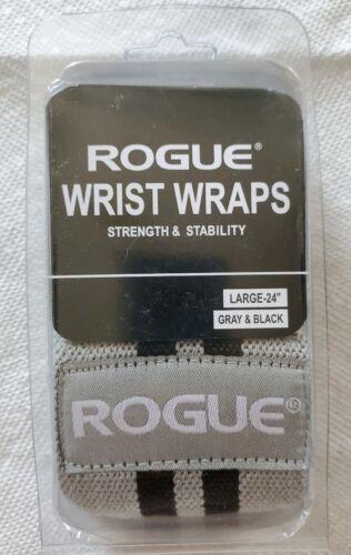 """Rogue Wrist Wraps Gray//Black 24/"""""""