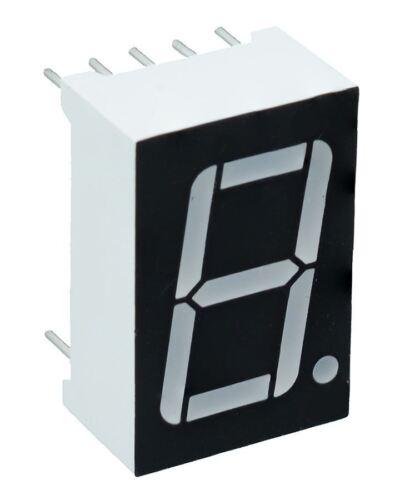 """2 x 0.56/"""" VERDE 1 Cifre Display SETTE 7 Segmenti Anodo Comune LED"""
