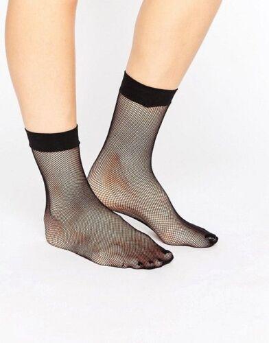 Black Fishnet Ankle High Sock Fine Mesh Fishnet Ankle Socks Anklet Plain Cuff
