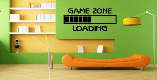 Game Zone ... Loading Gamers Charging Quote Vinyl wall art Decal Sticker