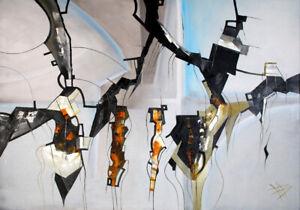 Unikat-Moderne-Olgemaelde-Malerei-XXL-Ol-auf-Leinwand-Olbild-von-Bozena-Ossowski