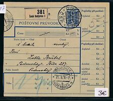 82147) CSR CSSR Sudeten BuM Postbegleitadresse (1935/38 ) Ceske Budejovice 3