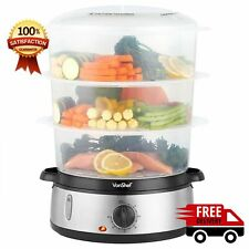 Electric Steam Cooker Healthy Cooking Food Steamer Multi Vegetable 9L
