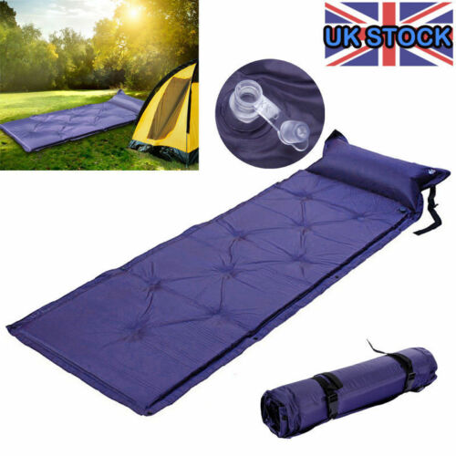 SINGLE-SELF-INFLATING-ROLL-CAMPING-MAT-PAD-INFLATABLE-BED-SLEEPING-MATTRESS-BAG
