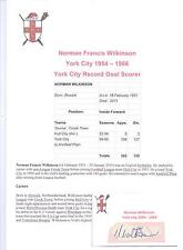 NORMAN WILKINSON YORK CITY 1954-1966 RARE ORIGINAL HAND SIGNED CUTTING/CARD