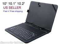 10.1 Inch Black Leather Keyboard Case Micro Usb Tablet Pc Allwinner Android 10