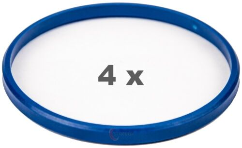 4 pezzi anelli di centraggio 79.5 mm a 74.1 mm blu//blue