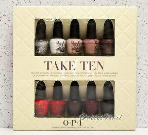 OPI-TOP-TAKE-TEN-10pcs-Favorite-Kit-Mini-Collection-2-Set-of-5-pk-Pack-Nail-Gift