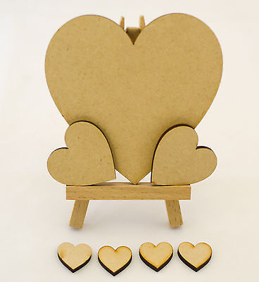 Wooden MDF heart shapes, craft blank, cutouts, Plaque and card making, 3mm
