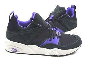 e30000a4f8b6 Puma Blaze of Glory Trinomic 357772-01 (Crackle Black  Purple) Men s ...