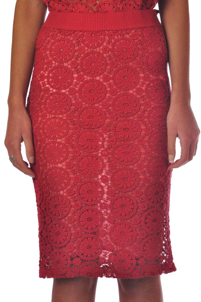 Merci  -  Skirts - female - M - Red - 823917B160740