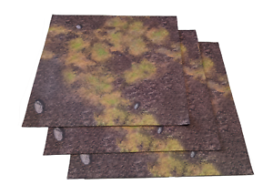 Neoprene Muddy Fields Gaming Mat 2ft x 2 ft RPG D&D Zombicide warhammer