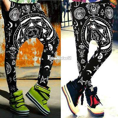 Women Harajuku Style Harem Baggy Hip Hop Dance Sport Sweat Pants Trousers ETDS