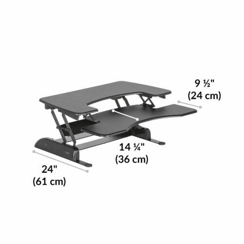 Varidesk Pro Plus 36 Black Sit Stand Adjustable Desk Dual Monitor Same Day