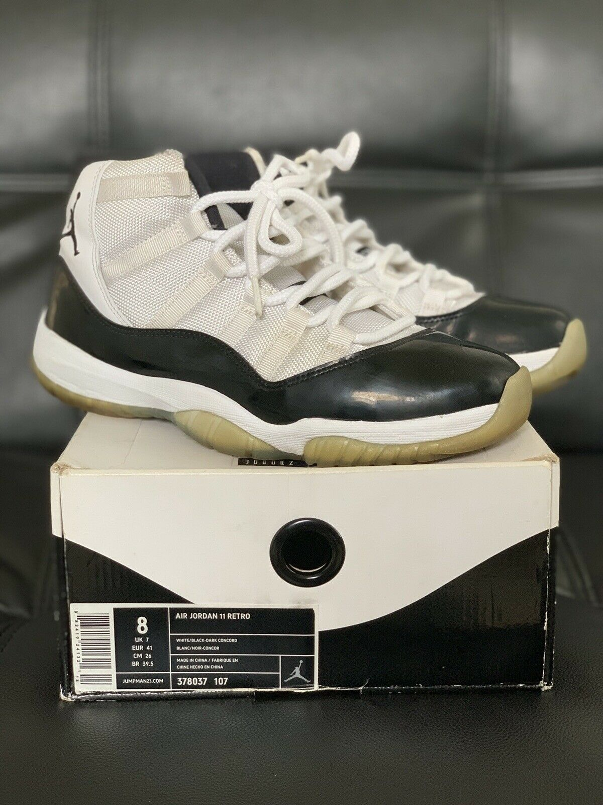 cheaper 651bf 6dd5e Air Jordan Retro 11 Concord 2011 Size 8