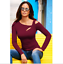 US-Women-Cut-Cold-Shoulder-Long-Sleeve-Tops-Ladies-Slim-Casual-Blouse-T-Shirt thumbnail 8