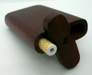 CLASSIC SMALL ROSEWOOD DUGOUT STYLE SMOKING PIPE SWIVEL LID BEAUTY