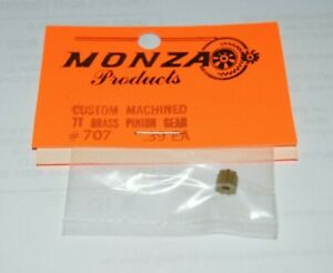 1960-s-Custom-Brass-Pinion-Gear-7-Tooth-48-Pitch-078-shaft-NOS-Slot-Car-Monza